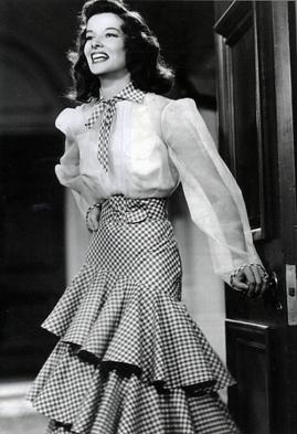 Katharine Hepburn + The Philadelphia Story + gingham 6
